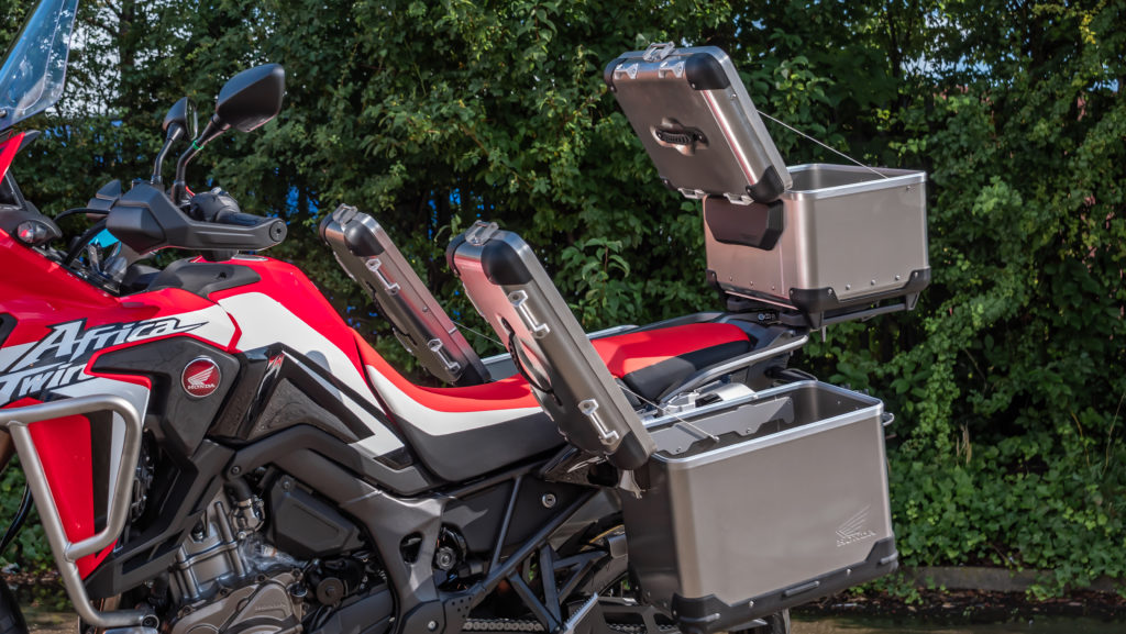 Africa Twin with Touratech Luggage